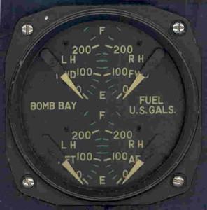 Lockheed P2V Neptune Fuel Gauge