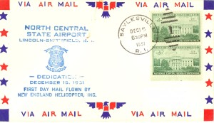 North Central Airport (R.I.) Dedication  postal cover - December 15, 1951
