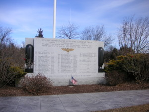 Memorial to those who lost their lives in the service of their country at Charlestown (RI) Aux. Landing Field