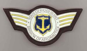 old Rhode Island Div. of Aeronautics metal insignia