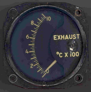 Exhaust Temperature Gauge - Used In American Cold War Era Military Jets.