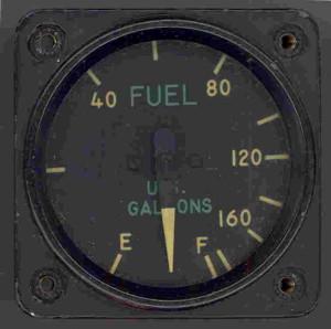 Grumman F-8 Bearcat U.S. Navy Fighter Fuel Gauge