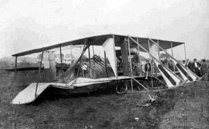 McGee's Wrecked Airplane Pawtucket Historical Society Photo