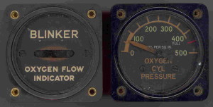 Oxygen Station Gauges found on all  American WWII Bomber Aircraft.