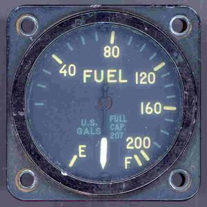 Republic F-80 Shooting Star Fuel Gauge