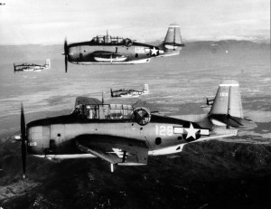 U.S. Navy TBM Avengers  National Archives Photo