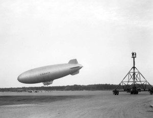 K Class Navy Airship South Weymouth Naval Air Station October 2, 1942 National Archives Photo
