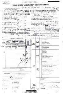 2nd Lt. Eugene Bradley Accident Investigation Report Face Sheet CLICK TO ENLARGE