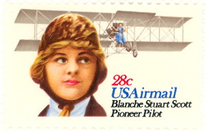 U. S. Air Mail Stamp Issued In 1980 Honoring Blanche Stuart Scott