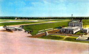 Vintage Post Card View Of Martha's Vineyard Airport