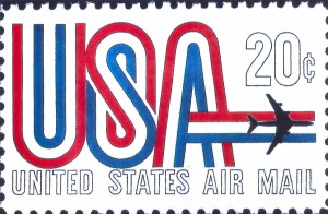 20 Cent Air Mail Stamp Issued November 22, 1968