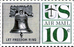 Liberty Bell Air Mail Stamp Issued June 10, 1960
