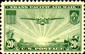 China Clipper Over The Pacific Issued February 15, 1937