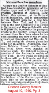 Boys buy aeroplane 1 newspaper