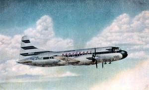 Vintage Post Card View Of  Northeast Airlines Convair N91237