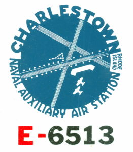 Charlestown R.I. Air Station Automobile Registration Decal