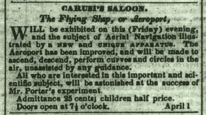 From The Republic newspaper Washington, D. C. April 1, 1853 Note the price of admission was now 25 cents.