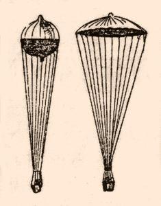 Louis Capazza's Parachute-Balloon, 1892