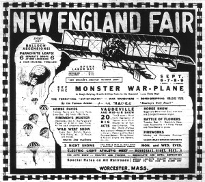 New England Fair Ad from Sept. 3, 1915