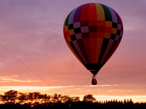 Balloon At Sunset -  South County Balloon Festival - 2014