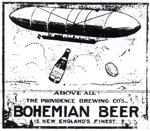 Bohemian Beer Ad - Airship - October, 1910