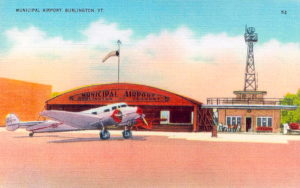 Old Postcard View Of Burlington Airport