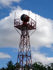 Aircraft Navigational Beacon and Tower on display at the New England Air Museum