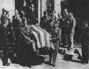 Funeral of Lt. Dover - Shelby Daily Star April 8, 1942