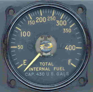 A Fuel Gauge from an F-86-A Sabre Jet.
