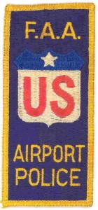 F.A.A. Airport Police patch/insignia circa 1970s.