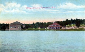 Early postcard view of Hoag Lake, Bellingham, Massachusetts