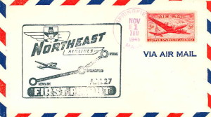 Northeast Airlines first flight postal cover 1946