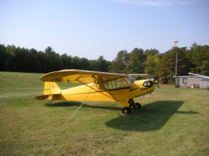 Vintage Piper cub Airplane, RICON Airport, Coventry, R.I.