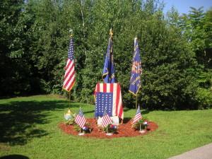 Memorial to three servicemen killed in a plane crash Aug. 5, 1943, Deerfield Park, Smithfield, R.I.