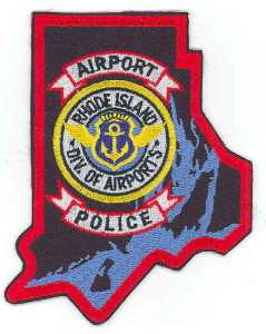 "Worn by the Rhode Island Airport Police in the 1990s.  Note ""Div. Of Airports"". This patch is no longer worn."