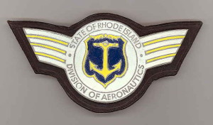 old Rhode Island Div. of Aeronautics metal insignia
