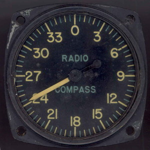 WWII Military Aircraft - Radio Compass Gauge