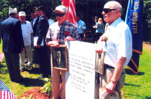Saul Winsten's brothers at the Aug. 2009 Deerfield Park  ceremony.