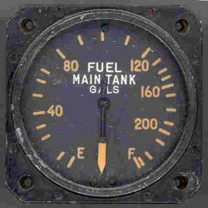 Vought F4U Corsair Fuel Gauge