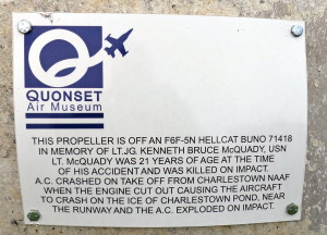 Description of accident that killed Lt. McQuady