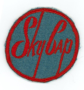 Sky Cap patch, worn by curbside airport baggage handlers. For a small fee they would bring your luggage to be checked in.