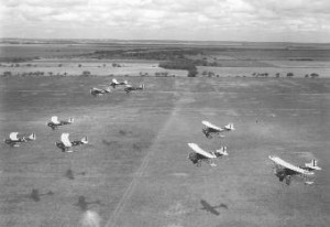 U. S. Air Force Photo Showing Early Formation Flight