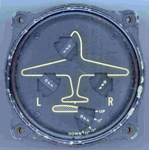Flaps and Landing Gear Gauge for a B-26 Marauder Bomber. Possibly used in other aircraft.