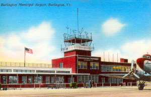 Post Card View OF Burlington Airport