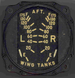 Curtis C-46 Commando Aft Wing Tanks Fuel Gauge