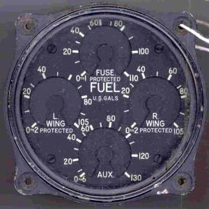 Curtis SB2C-1 Helldiver Fuel Gauge