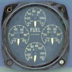 Curtis SB2C Helldiver Fuel Gauge