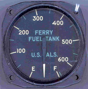 Douglas A-26 Invader Ferry Tank Fuel Gauge
