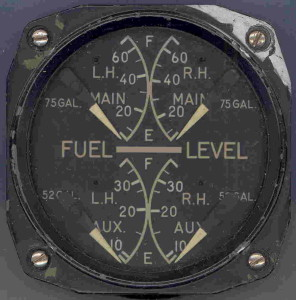 Douglas SBD-5 Dauntless Fuel Gauge