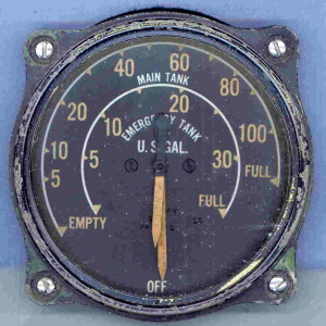 U.S. Navy F4F-3 Wildcat Fuel Gauge